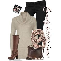 A fashion look from November 2014 featuring Calvin Klein jeans, UGG Australia boots and Lauren Ralph Lauren bracelets. Browse and shop related looks.