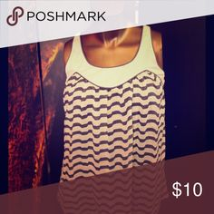 Super light summer tank Navy blue and white striped tank. Dress up or down:) Tops Tank Tops