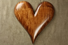 Heart Wood Carving Personalized Wedding by TreeWizWoodCarvings, $75.00