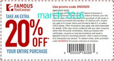 Famous Footwear Coupons Ends of Coupon Promo Codes JUNE 2020 ! Store Coupons, Grocery Coupons, Free Printable Coupons, Free Printables, Coupons For Boyfriend, Hobbies For Kids, Extreme Couponing, Kids Branding, Coupon Organization