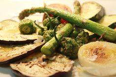 Parrillada de verduras de temporada a la sal gorda