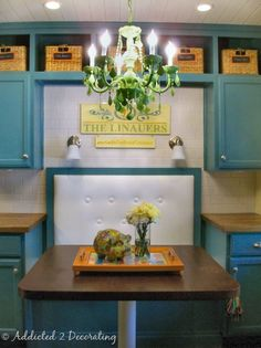 love the colour of these cabinets
