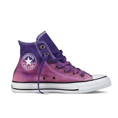 The Best Men's Shoes And Footwear : Chuck Taylor Dip Dye. shoes, you will like Converse Sneakers, Converse Style, Converse All Star, Purple Converse, Purple Sneakers, Purple Shoes, Vans, Dream Shoes, Crazy Shoes