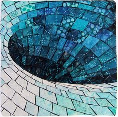 "Black Hole over the Equator, 15 x 15"", by Deborah Wirsu 