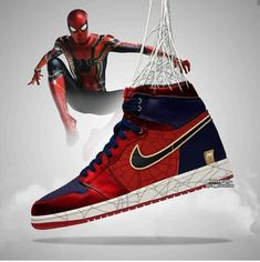 Avengers Endgame Air Jordans Designs is part of Marvel shoes - Artist CK creative shared some cool Avengers Endgame Air Jordans designs featuring Iron Man, Thanos and Sneakers Mode, Custom Sneakers, Custom Shoes, Sneakers Fashion, Girls Sneakers, Marvel Shoes, Marvel Clothes, Nike Air Shoes, Air Jordan Shoes