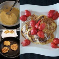 Rezept für fluffige Haferflocken Pancakes mit Nährwertangabe. Sehr leicht nachzumachen und sehr lecker! Das perfekte Frühstück mit gutem Proteingehalt.