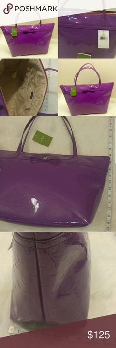 NWT Kate Spade purple sophie big tote New with tags, beautiful big tote bag, lots of space, and great bag for everyday use!  **Please check picture for approximate measurements**  Thanks for checking out my closet☺ kate spade Bags