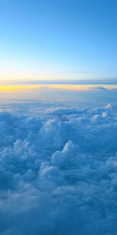 Clouds and sunset, sky, sea of clouds, 1080x2160 wallpaper