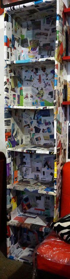 MANUALIDADES DIY tutorial para hacer un mueble de cartón