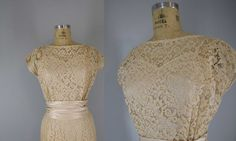 1950s lace dress by VintageCalling on Etsy, $128.00