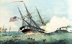 On March 8th 1862 the USS Cumberland and USS Congress became the first United States ships to be put out of commission by an ironclad, the CSS Virginia.