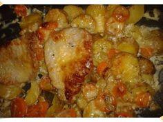 Recept: *Zapečené vepřové s hořčičnou smetanou   Tradičnírecepty.cz Meat, Chicken, Food, Essen, Meals, Yemek, Eten, Cubs