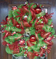 Mesh Christmas Wreaths | Request a custom order and have something made just for you.