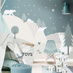 Little Hands Wallpaper - Bring Magic into Your Kids Room - Petit & Small