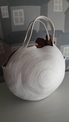 HANDMADE BASKET BAG, MONOCHROME BASKET BAG BASKETRY HANDMADE BOHO BAG FRENCH COUNTRY STYLE BASKET BAG THIS BASKET BAG IS MADE WITH SOFT COTTON ROPE SMALL CUTE AND SPECIAL HANDMADE BASKET PLAIN BEIGE TO BE EMBELISHED WITH A SPECIAL SCARF OR TASSEL OF YOUR CHOICE HERE FEATURING A HANDMADE