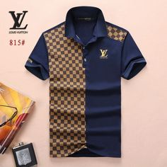 Louis Vuitton POLO shirts men-LV61816A