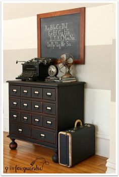 creating a faux card catalog, painted furniture Furniture Projects, Furniture Makeover, Home Projects, Home Furniture, Modern Furniture, Furniture Design, Repurposed Furniture, Painted Furniture, Plywood Furniture