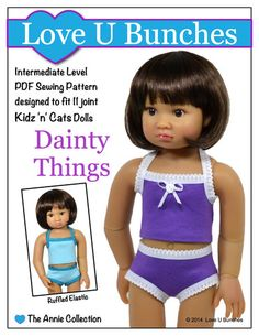 Love U Bunches Dainty Things Doll Clothes Pattern 18 inch Kidz 'n' Cats Dolls | Pixie Faire