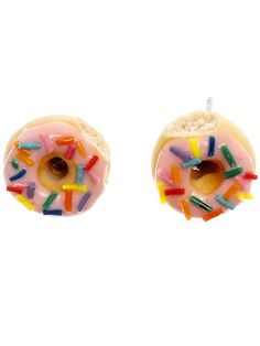 Donut earrings look cute and yummy! I want to make these out of sugar cookie dough.