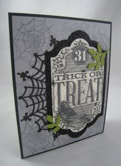Witchs' Night 2a Up Halloween, Halloween Cards, Halloween Witches, Anna Griffin, Condolences, Stampin Up Cards, Trick Or Treat, Doilies, I Card