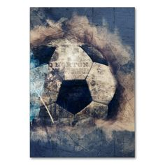 Abstract Grunge Soccer Card