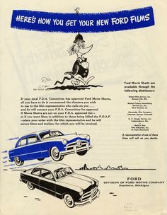Dr. Seuss for Ford Motor Company 1949.