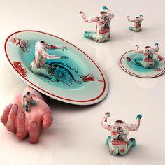 Ceramic surrealism by Kim Joon