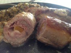Rouleau de porc par Tintti78 Meat, Chicken, Bell Pepper, Pork, Cheese, Recipe, Wraps, Kitchens