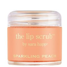 Exfoliate your lips while coating them in a scrumptious burst of summer peaches with The Lip Scrub in sparkling peach by sara happ. How to use: Slather generous...