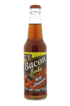 Chocolate Bacon Soda! It's sweet, it's savory, it's delicious! From Lester Fixin's.
