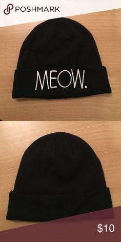 H&M Black Meow Beanie Super cute and warm beanie! Hardly worn. H&M Accessories Hats