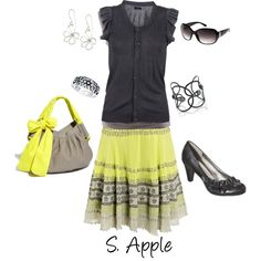 """Yellow!"" by sapple324 on Polyvore"