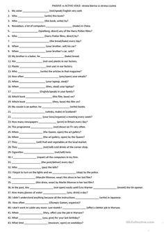 passive voice advanced exercises pdf
