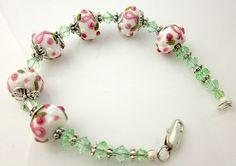 Breast Cancer Bracelet Pink Ribbon Bracelet Breast by ramonahall, $55.00