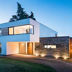 Design Exterior, Modern Exterior, Villa Design, Modern Architecture House, Architecture Details, Contemporary Buildings, Building Architecture, Modern House Plans, Modern House Design