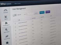 #flat #ui #table → Admin Console Full View by Mike Busby — Espress Labs