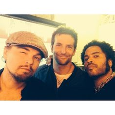 Leonardo Dicaprio, Bradley Cooper, and Lenny Kravitz- how can you fit this much cool into one selfie!?