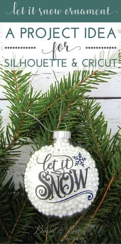 Here's a great Christmas ornament project idea for Cricut & Silhouette! Get all the details including materials, design, etc. on my post -->