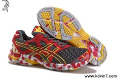 2013 New Asics Gel Noosa Tri 7 Mens Carbon Grey Red Yellow Basketball Shoes Shop Cheap Running Shoes, Lightweight Running Shoes, Asics Running Shoes, Asics Shoes, Kd 6 Shoes, New Jordans Shoes, New Shoes, Gray, Zapatos