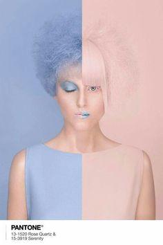 Pantone's 2016 Color of the Year, Rose Quartz and Serenity.  ✨  Photo, Editing & Concept: Ciocanul Hairstyling: Cristina Grama Stilist Makeup: Inna Lupu MakeUp Artist Model: Teodora Bitca