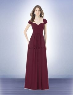Bridesmaid Dress Style 496 - Bridesmaid Dresses by Bill Levkoff - Color Wine
