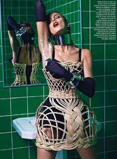 Anja Rubik by Mario Sorrenti, Vogue Paris 2013