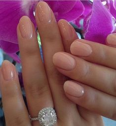 A manicure is a cosmetic elegance therapy for the finger nails and hands. A manicure could deal with just the hands, just the nails, or Chic Nail Art, Chic Nails, Trendy Nails, Fun Nails, Wedding Day Nails, Wedding Manicure, Wedding Nails For Bride Natural, Simple Wedding Nails, Ivory Wedding