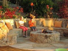 How much area around a fire-pit...2 to 2-1/2 ft from edge of fire pit for built in seating.