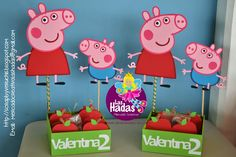 centro mesa peppa pig - Buscar con Google Fiestas Peppa Pig, Cumple Peppa Pig, Peppa Big, George Pig, Ballerina Party, Pig Party, Pig Birthday, Party Planning, Candy