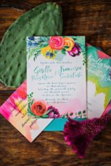 Probably one of my most favorite invitation suites... Ever! So colorful and fun. #invitationsuite #colorful #colorfulweddinginvites