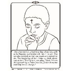 Ash Wednesday Coloring Page | Catholic Coloring Pages for Kids ...