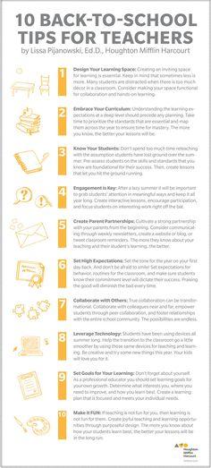 10 Back-To-School Tips for Teachers