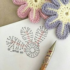sh have a nice day my friends 💕💕 This Pin was discovered by Ayn Crochet Bedspread Patterns Part 15 - Beautiful Crochet Patterns and Knitting Patterns Crochet Flower - Chart ❥ hi Florzinha linda Via Marque-pages Au Crochet, Beau Crochet, Crochet Amigurumi, Crochet Motifs, Crochet Diagram, Crochet Chart, Irish Crochet, Crochet Stitch, Crochet Flower Tutorial