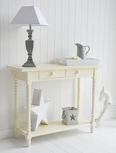 Cream Hall Table cream cottage hall table with drawers. perfect hallway furniture